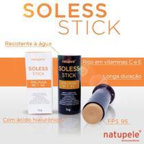 Natupele Soless Stick FPS95 UVA40 Bege Claro 14g -