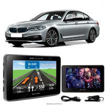 Navegador Gps Automotivo BMW 530E  Tela 4,3 Touch Voz C/ TV FM Oferta - Multilaser