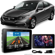 Navegador Gps Automotivo HONDA CIVIC Tela 4,3 Touch Voz C/ TV FM Oferta - Multilaser