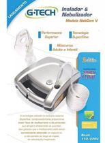 Nebulizador Adulto e Infantil Superflow Plus G-tech Prata -