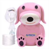 Nebulizador e inalador infantil nebdog cachorrinho rosa g-tech -