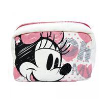 Necessaire Da Minnie Em Algodão Cru Porta Maquiagem Disney - Drina