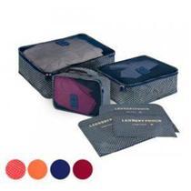 Necessaire de Nylon  para Viagem Kit com 6 Peças - Única -