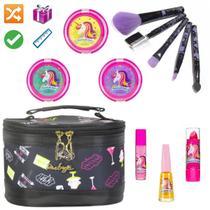 Necessaire Maleta Infantil Com Kit Maquiagem Completo MKI028 - Nova Diva