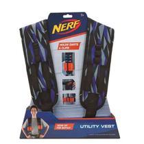 NERF Elite Colete Armazenador de Utilidades Elite Ajustável com Compartimento para até 6 Dardos Indicado para +8 Anos Multikids - BR941 -