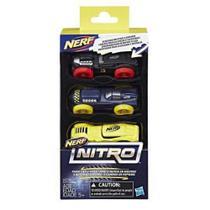 Nerf Refil Nitro Carros C/3 - C0774/c0778 - Hasbro