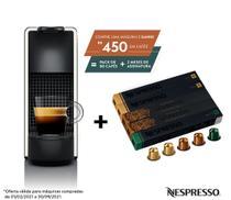 Nespresso Essenza Mini Branca, Cafeteira 220V + 50 Cápsulas de Café Equilibrado -