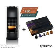 Nespresso Essenza Mini Branca, Cafeteira 220V + 50 Cápsulas de Café Variado -
