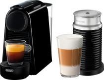 Nespresso Essenza Mini Máquina Espresso com Aeroccino Batedor de leite by DeLonghi Preto-EN85BAE -