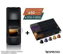 Nespresso Essenza Mini Preta, Cafeteira 110V + 50 Cápsulas de Café Variado -