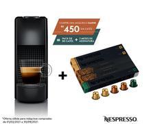 Nespresso Essenza Mini Preta, Cafeteira 220V + 50 Cápsulas de Café Equilibrado -