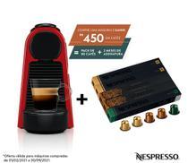 Nespresso Essenza Mini Vermelha, Cafeteira 110V + 50 Cápsulas de Café Equilibrado -