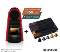 Nespresso Essenza Mini Vermelha, Cafeteira 110V + 50 Cápsulas de Café Variado -