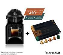 Nespresso Inissia Preta, Cafeteira 220V + 50 Cápsulas de Café Equilibrado -