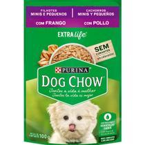 Nestlé Purina Dog Chow Ração Úmida Para Cães Filhotes Raças Pequenas Frango e Arroz - 100 g -