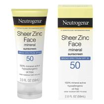 Neutrogena Protetor Solar Facial Óxido Zinco Mineral 59Ml -
