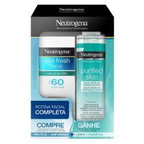 Neutrogena Sun Fresh Facial Kit - Protetor Solar FPS60 com Cor  + Água Micelar -