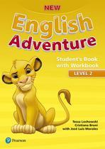 New english adventure 2 sb with wb - 1st ed - Pearson (importado)