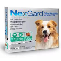 Nexgard Cães 10 a 25kg 68MG 3 COMPRIMIDOS - Merial -