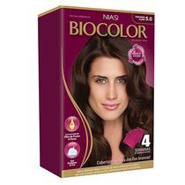 Niasi - Biocolor Coloração Creme Kit N 5.0 Castanho Claro Luxuoso - 40g -