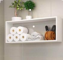 Nicho branco para decoração com kit de instalação fred planejados -