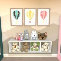 Nicho Cubo com 3 Prateleiras Ciati Kit Cubos Baby Bramov Móveis Branco -