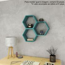 Nicho Hexagonal Decorativo 40cm AM 3129 Movelbento -