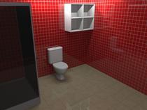 Nicho para Banheiro 4 Vãos HV 484 - Home vision