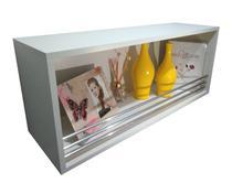 Nicho Retangular 80x33x25Cm-MDF C/ Fundo proteção barra de alumínio - Virtude móveis