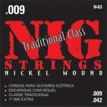 NIG - Cordas para Guitarra Eletrica Tradicional N63 -
