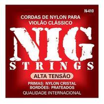 NIG - Cordas Para Violão Nylon Alta Tensão N410 -
