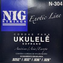 NIG - Encordoamento Para Ukulele Nylon Preto Com Bolinha N304 -