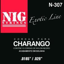 NIG - Strings Cordas Nylon Para Charango Boliviano Preto N307 -