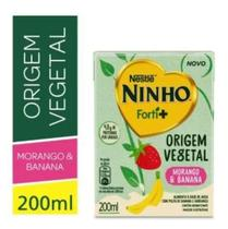 Ninho Bebida Vegetal Banana E Morango 200ml -