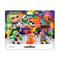 Nintendo Amiibo: Girl, Squid e Boy - Splatoon - Wii U e New Nintendo 3DS -
