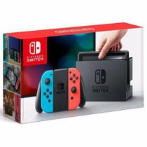 nintendo switch 32gb bivolt neon red / blue