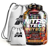 Nitro Tech 100% Whey Gold 2.5Kg + Mochila - Muscletech (Doce De Leite) -