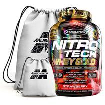 Nitro Tech 100% Whey Gold 2.5Kg + Mochila - Muscletech (Morango) -