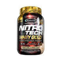 Nitro-tech 100 whey gold creme baunilha franc 999g muscletech -