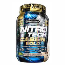 Nitro-tech caseina gold biscoito e creme 1,13kg muscletech -