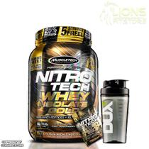 Nitro Tech Whey Isolate Gold 907g Cookies and Cream Muscletech +Coqueteleira + Dose