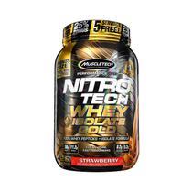 NITRO TECH WHEY ISOLATE GOLD 907g - MORANGO - Muscletech