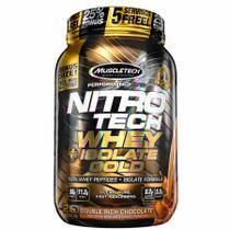 Nitro-tech whey isolate gold  duplo chocolate 907g muscletech -
