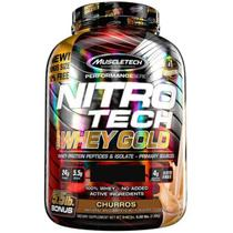 NitroTech 100% Whey Gold (2.49kg) Sabor Churros - Muscletech -
