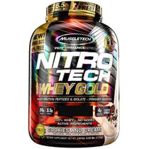 NitroTech 100% Whey Gold (2.49kg) Sabor Cookies and Cream - Muscletech -