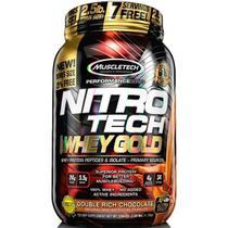 Nitrotech 100 whey gold (999g) sabor chocolate duplo - muscletech -