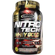 Nitrotech 100 whey gold (999g) sabor cookies and cream - muscletech -
