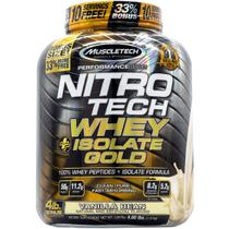 Nitrotech whey isolate gold (1,8kg) sabor baunilha - muscletech