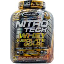 Nitrotech whey isolate gold (1,8kg) sabor duplo chocolate - muscletech