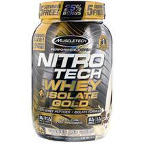Nitrotech whey isolate gold (913g) sabor biscoito e creme - muscletech -